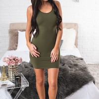 Amias Bodycon (Olive)