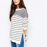 Vero Moda Contrast Stripe Jumper at asos.com