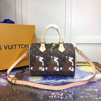 LV Louis Vuitton MONOGRAM CANVAS MEDIUM NANO SPEEDY HANDBAG SHOULDER BAG