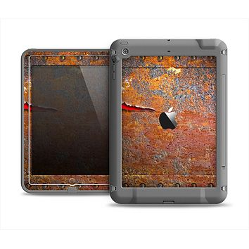 The Rusty Metal with Jagged Edge Apple iPad Air LifeProof Fre Case Skin Set