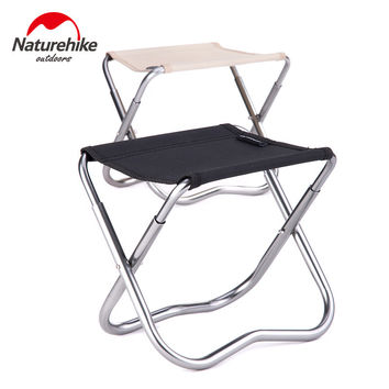Brand Naturehike Outdoor Portable Oxford Aluminum Folding Step Stool Camping Fishing Chair Camping Equipment 243g 2 Colors