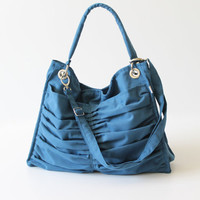 Diaper Bag / Euphoria in Teal / Outside Pockets / by bayanhippo