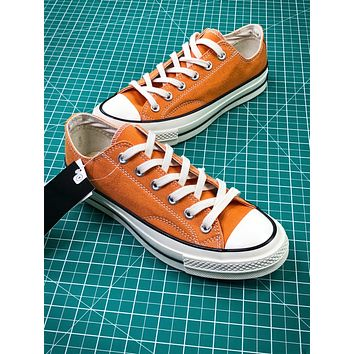 Converse Chuck Taylor All Star 1970s Orange Low Canvas Shoes