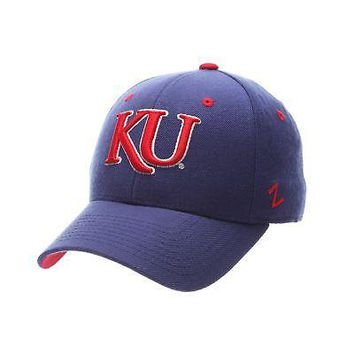 Licensed Kansas Jayhawks Official NCAA DH Size 7 1/8 Fitted Hat Cap by Zephyr 890738 KO_19_1