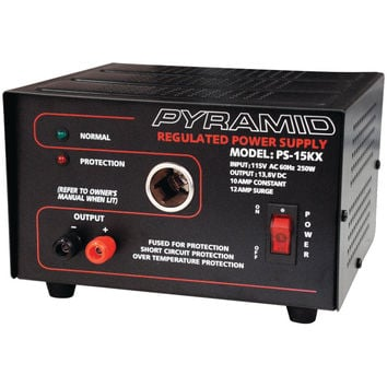 Pyramid 10-amp 13.8-volt Power Supply With Car-charger Adapter