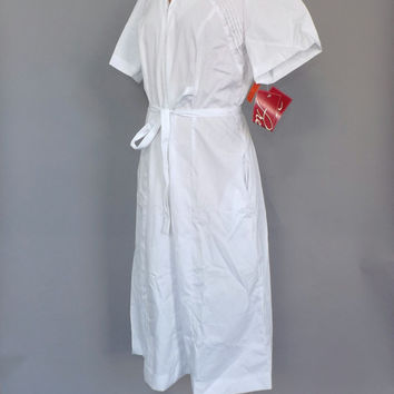 Size Large NOS Vintage 1970's 80's Retro Premier Uniforms Nurse Uniform Orderly Shift Day Dress Cotton Dress World War 2 Nursing Ceremony