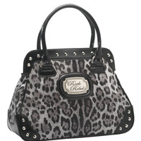 """Leopard"" Handbag by Rock Rebel (Grey)"