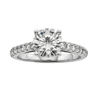 Forever Brilliant Round-Cut Lab-Created Moissanite Engagement Ring in 14k White Gold (2 1/3 ct. T.W.)