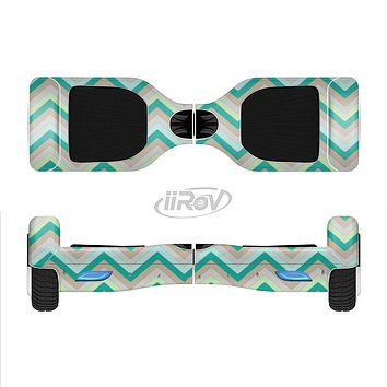 The Vintage Subtle Greens Chevron Pattern Full-Body Skin Set for the Smart Drifting SuperCharged iiRov HoverBoard