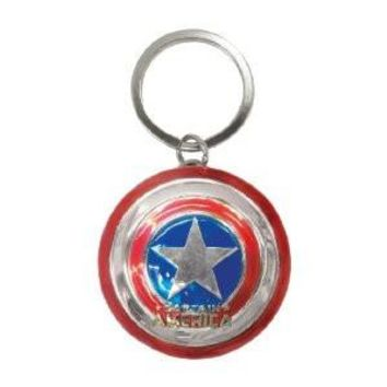 Marvel Colored Pewter Keyring- Captain America