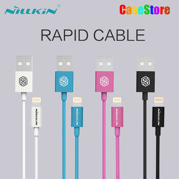 Original NILLKIN Rapid Cable MFI Certification For Apple Lightning Port Devices For iPhone ios 9/iPad/iPod/iPhone se/6/6s Plus