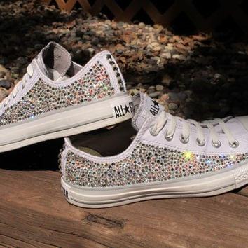 7c1a627f89edbf Swarovski Crystal Converse All Stars from SparkleByAriel on Etsy