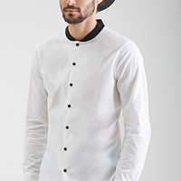 Baseball Collar Dress Shirt