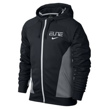 Nike Elite World Tour Full-Zip Men's Basketball Hoodie - Black