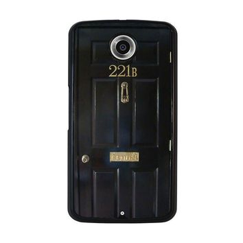 the door of sherlock holmes nexus 6 case cover  number 1