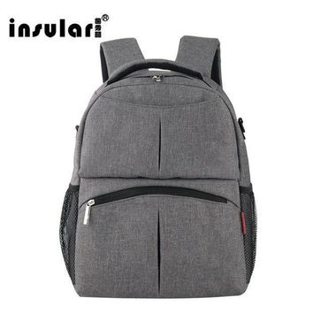 2017 New Insular Mother Bag Baby Nappy Bags Large Capacity Maternity Mummy Diaper Backpack Stroller Bag 10016