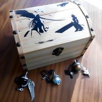 Final Fantasy 7, Materia Necklace, Sephiroth Necklace, Cloud Necklace, Aeris Necklace, FF7 Jewelry, Fan Box, Treasure box, Gift box