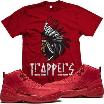 Jordan 12 Gym Red Sneaker Tees Shirt to Match - TRAPPERS