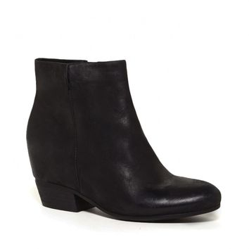Sole Society Charlotte Hidden Wedge Leather Bootie