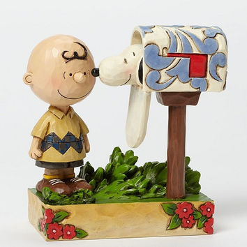 Jim Shore Peanuts Charlie Brown & Snoopy Mailbox Special Delivery-4042380