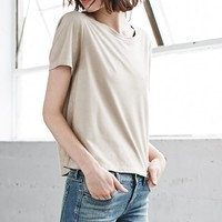 Me To We Radlands Faux Suede T-Shirt - Womens Tee