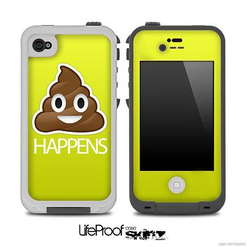 Yellow Crap Happens Skin for the iPhone 5 or 4/4s LifeProof Case