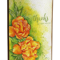 Original Handpainted Watercolor Card, NOT A PRINT,  Floral Card, Thank you card, Handmade card