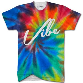 Vibe tie dye all over print t shirt