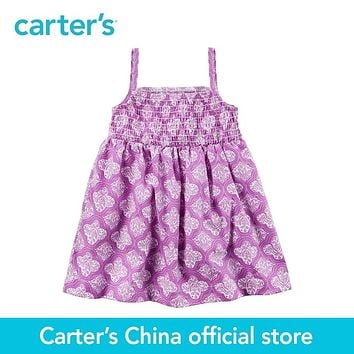 Carter's 1pcs baby children kids Geo Print Smocked Dress 118H306,sold by Carter's China official store