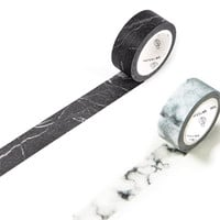 Marble Washi Tape (Set of 2): Black Marble and White Marble