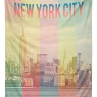 DENY Designs 'Catherine McDonald - New York City' Tapestry - Yellow