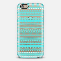 Turquoise Modern Aztec Transparent iPhone 6 case by Organic Saturation | Casetify