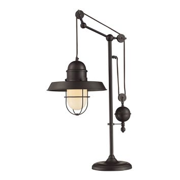 65072-1 Farmhouse Table Lamp in Oiled Bronze