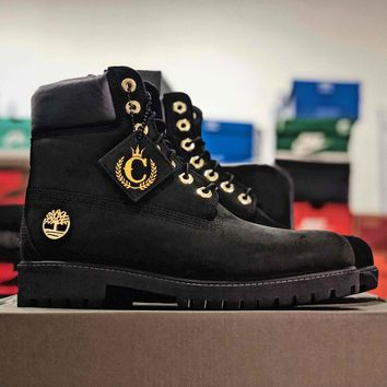 Timberland Black With Gold C Truck Boots - Best Online Sale