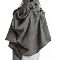 Gray Black Steam Punk Skirt