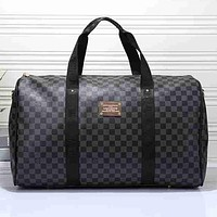 Louis Vuitton X Supreme Men Travel Bag Leather Tote Handbag Shoulder Bag