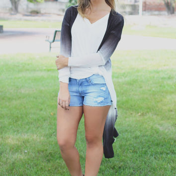 Day to Night Cardigan - Charcoal