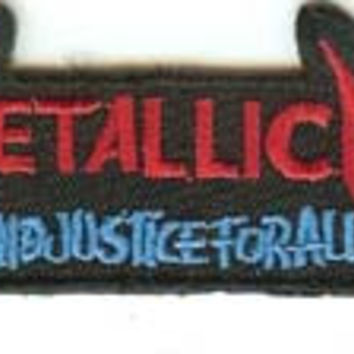 Metallica Iron-On Patch And Justice For All Letters Logo