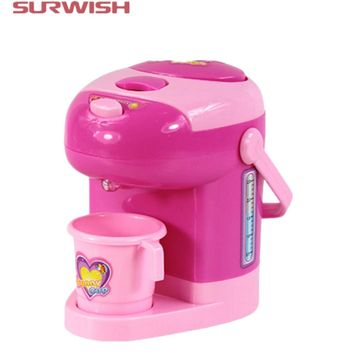 Surwish Educational Toy Electric Water Dispenser Children Pretend & Play Baby Kids Home Appliances Toy - Color Random
