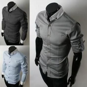 Must Have New Style Men Slim Fit Dress Shirt