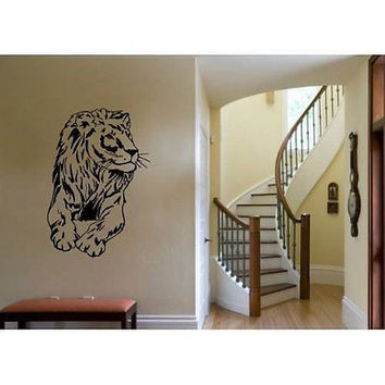 Lion King Of The Jungle Wild Cat Animals Wall Decal Art Vinyl Sticker tr659