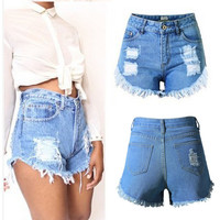 Women Shorts Denim Shorts Jeans High Waist Short Fashion Women Ladies Shorts Sexy Hot Summer Casual