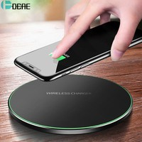 DCAE Qi Wireless Charger For iPhone 8 X XR XS Max QC3.0 10W Fast Wireless Charging for Samsung S9 S8 Note 9 S10 USB Charger Pad