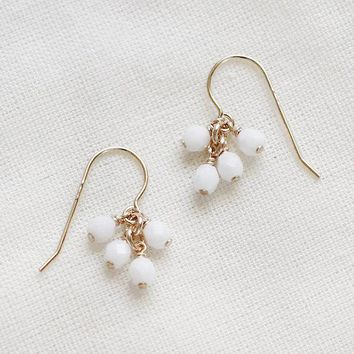 Lucky Earrings in White