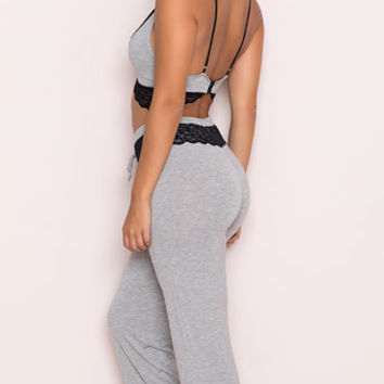 Yandy Cozy Grey Lounge Set, grey pajama set - Yandy.com