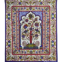 White Tree Of Life Dorm Room Decor Hippie Tapestry Wall Hanging