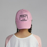 Summer Gift Yeezy Retro Embroidery Baseball Cap Unique Casual Hat a12470