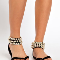 New Look | New Look Girl Pearl Cuff Flat Sandals at ASOS