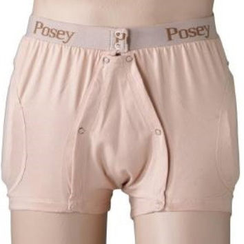 Hipsters® Hip Protection Brief, Incontinent, Elastic Waistband, Unisex, Beige, Medium- EA/1