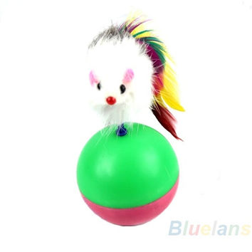 Cute Pet Cat Kitten Training Funny Mouse Mice Play Toy Tumbler Ball Gift = 1929903748